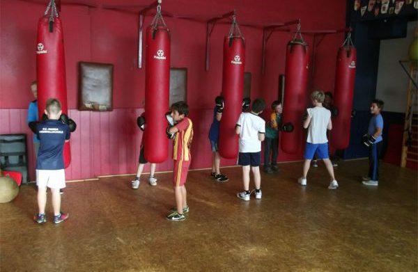 Inbetriebnahme Box-Trainingsgeräte Kinder- und Jugendsportgruppe Güstrower SC