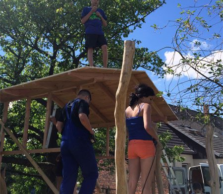 Errichtung eines Baumhauses Trägerwerk Soziale Dienste e.V.