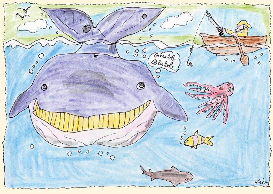 Wal mit Angler
